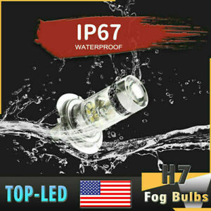 H7 Super 100W LED Fog Driving Lights Bulbs DRL Lamp Headlight Kit 6000K US