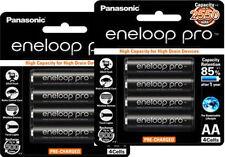 8X Panasonic Eneloop Pro 2550mAh AA Precharge NiMH Rechargeable Battery Sanyo