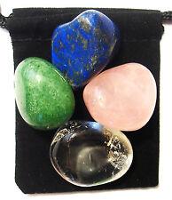 VERTIGO RELIEF Tumbled Crystal Healing Set =4 Stones +Pouch+Description Card