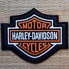 Harley Davidson Classic Orange Logo Sew-on Patch (Small)