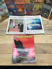 Lot of 18 Sheet Music Magazine 1981 - 1983 Easy organ