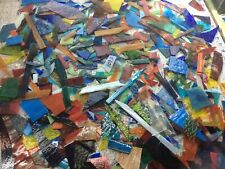 #1093 SCRAP 10+#  Mixed Stained Glass MAY HAVE IRIDESCENT Glass U Get SHIPS FREE