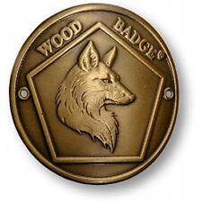 WOOD BADGE BRONZE ANTIQUE FOX HIKING MEDALLION WOODBADGE