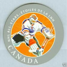 Grant Fuhr 2005 Canada Post Hockey NHL Coaster '05 Edmonton Oilers