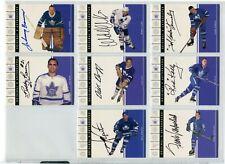 2003-04 Parkhurst Original 6 SIX , Autographs  Toronto  Wendel Clark  /90