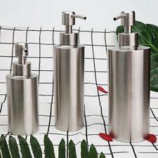 Stainless Steel Soap Dispenser Hand Lotion Dish Bottle for Bathroom Kitchen