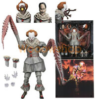 "IT Ultimate Pennywise The Dancing Clown 2017 7"" Action Figure 1:12 Scale NECA"