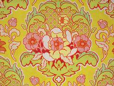 1YD POP GARDEN Pineapple Brocade HB08 Gold Floral Heather Bailey Free Spirit