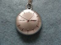 Vintage Made in France Jubilee Mechanical Wind Up Pocket Watch