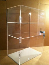 Acrylic CounterTOP Display Case 12 x 7 x 17.5 Tall  Locking Security Showcase