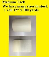 """1 Roll 12"""" x 100 Yards Application Transfer Tape Vinyl Sign Adhesive R TAPE USA"""