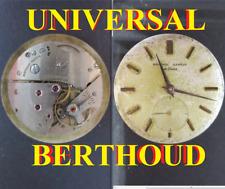 universal geneve berthoud de luxe eta 1132 cal movement manual old watch working
