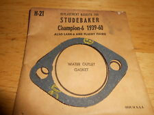 NOS Water Outlet Gasket 1939-1960 Studebaker Champion 6 Lark 6 Flight Hawk H21