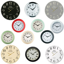 Assorted Round Vintage Wall Clocks Easy Read Time Piece Analogue Quartz Kitchen