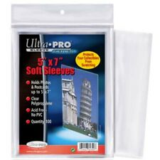 """Ultra Pro 5"""" x 7"""" Soft Sleeves protection for photos, postcards, 100 count 5x7"""