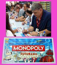 FUTURAMA sdcc MONOPOLY Signed Poster MATT GROENING DAVID X. COHEN JOHN DIMAGGIO