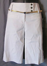 Tracy Evans Size 5, White Shorts/Gold Belt, New with Tags & Extra Button