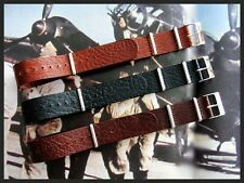 26mm Blk-Tan-Brn Buffalo calf NATO G10 UTC Military strap IW SUISSE 18 20 22 24