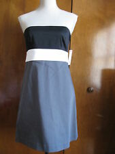 Theory Women's Multicolored Cotton Strapless Women's Dress Size 6 NWT