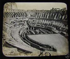 Glass Magic lantern slide ROME - THE COLOSSEUM EAST C1890 ITALY ROMA