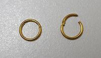 Piercing anneaux segment 1.2 x 8 mm Gold  nez traguis,cartilage,,septum,tétons