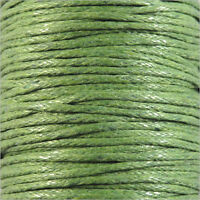 Waxed Cotton Cord 1mm – 4 Meters Anise Green for Necklaces et Bracelets pearl