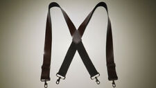 "2"" WIDE X  Leather Suspender with BELT LOOP SNAPS USA MADE"