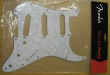 GENUINE FENDER STRAT 4-PLY WHITE PEARL PICKGUARD 11-HOLE STRATOCASTER ~ NEW