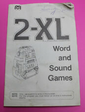 1980 MEGO WORD AND SOUND GAMES BOOK BOOKLET FOR 2-XL TALKING ROBOT 8 TRACK GAME