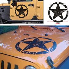 Black Jeep Car Hood Side Door Vinyl Decal Star DIY Decoration Sticker Waterproof