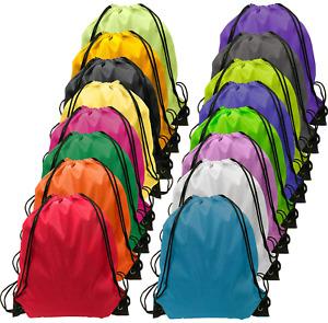 Drawstring Backpack Bulk Cinch Bag Kids Nylon String Gym Sack Storage Bag 16Pcs