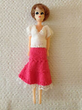 "Vintage plastic doll - 11.5"" - Tricot Jupe & Top"