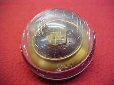 ORIGINAL 1950's CADILLAC HORN BUTTON STEERING WHEEL EMBLEM ORNAMENT FACTORY OEM