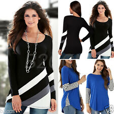 Fashion Women Blouse Striped Long Sleeve Pullover O-Neck Tops Casual T Shirt New