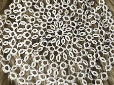"""VTG Thread Hand Tatting Crocheted Doily Tablecloth Centerpiece White Lace 8.5"""""""