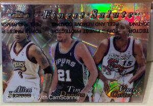 1999-00 Topps Finest Salute Refractor Allen Iverson Tim Duncan Vince Carter RARE