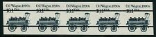 "#2130b ""Oil Wagon"" Imperf Str/5 With Plate No. 1 Error Hw1553"
