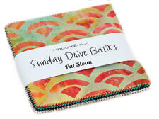 "Charm pack Sunday Drive Batiks by Pat Sloan for Moda #33200PP 40 - 5"" squares"