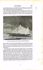 Traîneaux de Parry Spitzberg Svalbard Norvège Norway GRAVURE ANTIQUE PRINT 1874