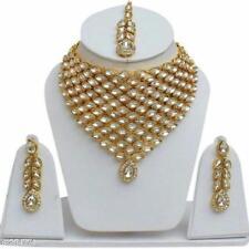 Indian Designer Bollywood Gold Plated Fashion Bridal Kundan Jewelry Necklace Set