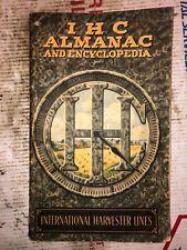 1913 International Harvester Almanac & Encyclopedia Hit Miss Stationary Engine