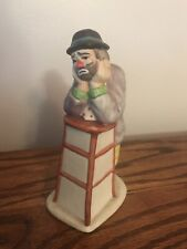 Emmett Kelly Jr. Flambro Clown Figurine 5 1/2� Leaning On Stool Sticker