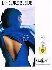 PUBLICITE ADVERTISING 074  1989  GUERLAIN  parfum l'HEURE BLEUE