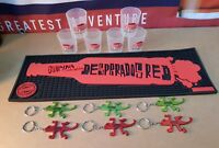 DESPERADOS TEQUILA FLAVOURED BEER BAR RUNNER plus 6 x Keyrings 6 x Shot glasses