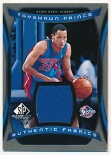 TAYSHAUN PRINCE 2004/05 SP GAME USED AUTHENTIC FABRIC PISTONS RELIC JERSEY C2