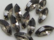 12pcs. 10x5mm GREIGE NAVETTE FOILED POINTED BACK swarovski rhinestone