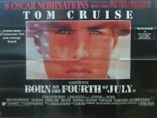 BORN ON THE 4th OF JULY Tom Cruise(1987) Original UK quad movie poster