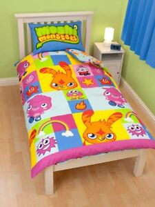 Moshi Monsters Single Duvet Cover Official Reversible Bed Linen kids character