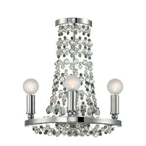 Crystorama Channing 3 Light Chrome Sconce - 1542-CH-MWP