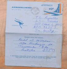 Mayfairstamps Australia 1967 to Apo 96353 Stationery Aerogramme wwi2897